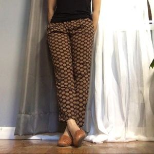 Casual printed trousers